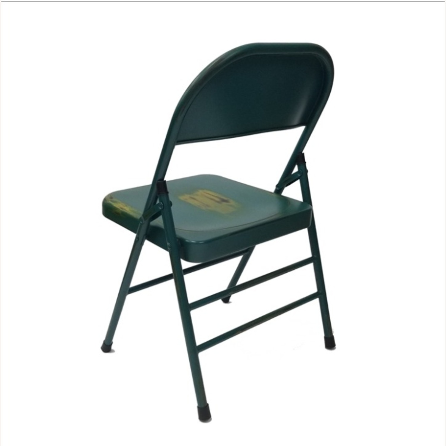 Folding Chair In Turquoise Powder Coated Finish - image-3