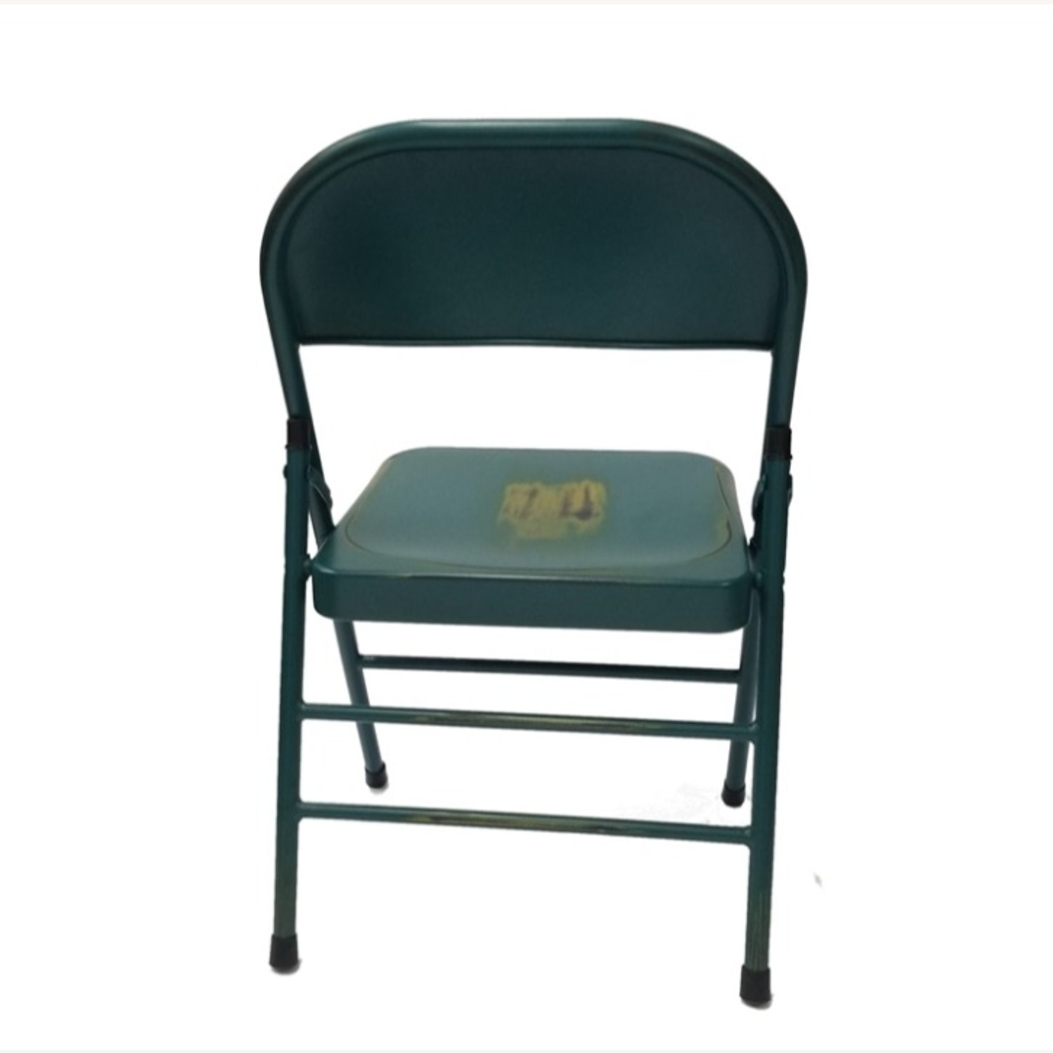 Folding Chair In Turquoise Powder Coated Finish - image-2