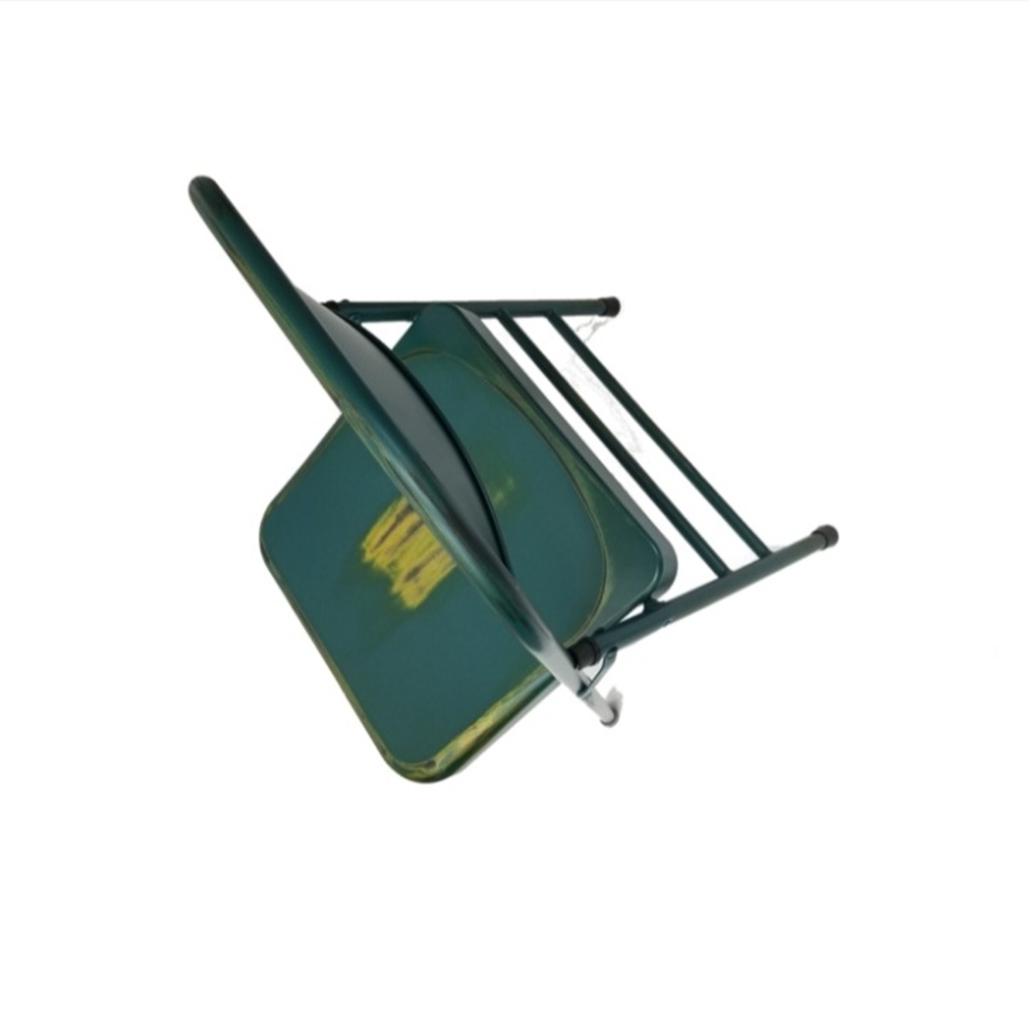 Folding Chair In Turquoise Powder Coated Finish - image-5