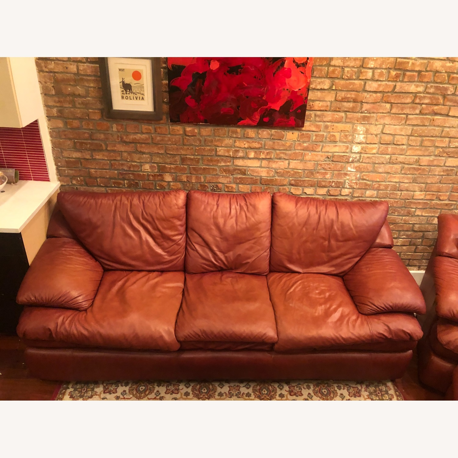 Brown Leather Livingston Sofa Bed - image-2