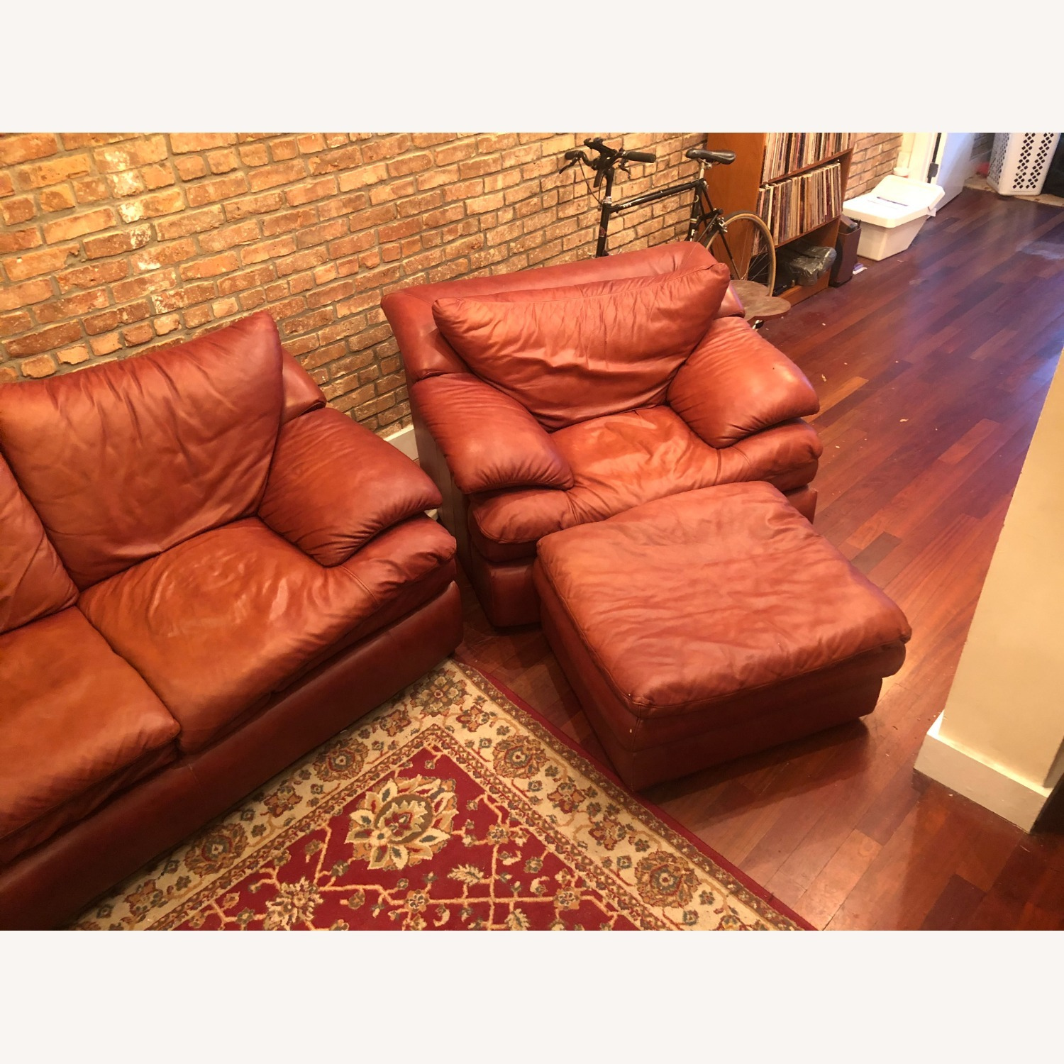Brown Leather Livingston Sofa Bed - image-3