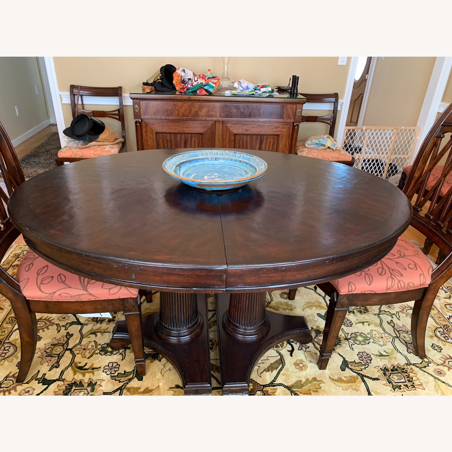 Drexel Solid Wood Dining Table with 6 chairs - image-2