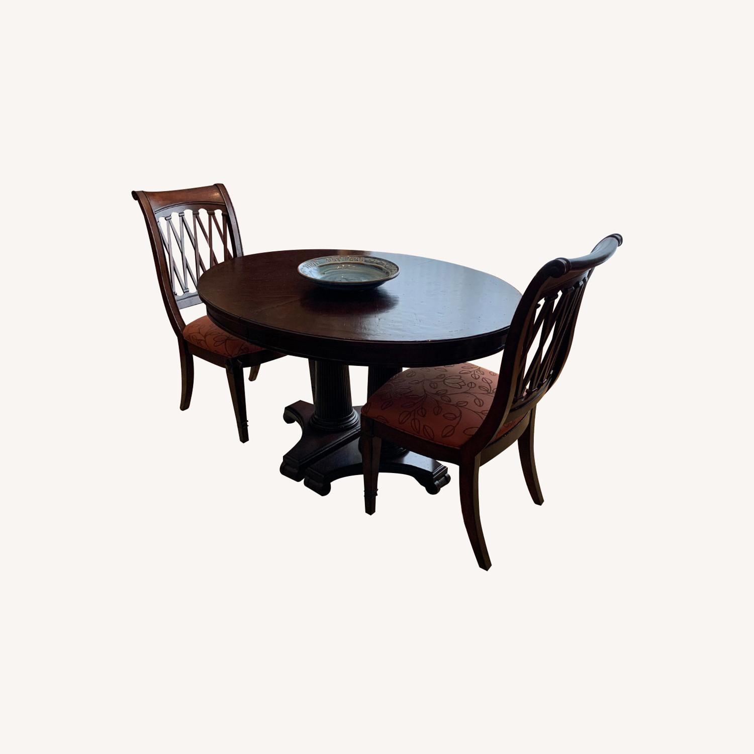 Drexel Solid Wood Dining Table with 6 chairs - image-0