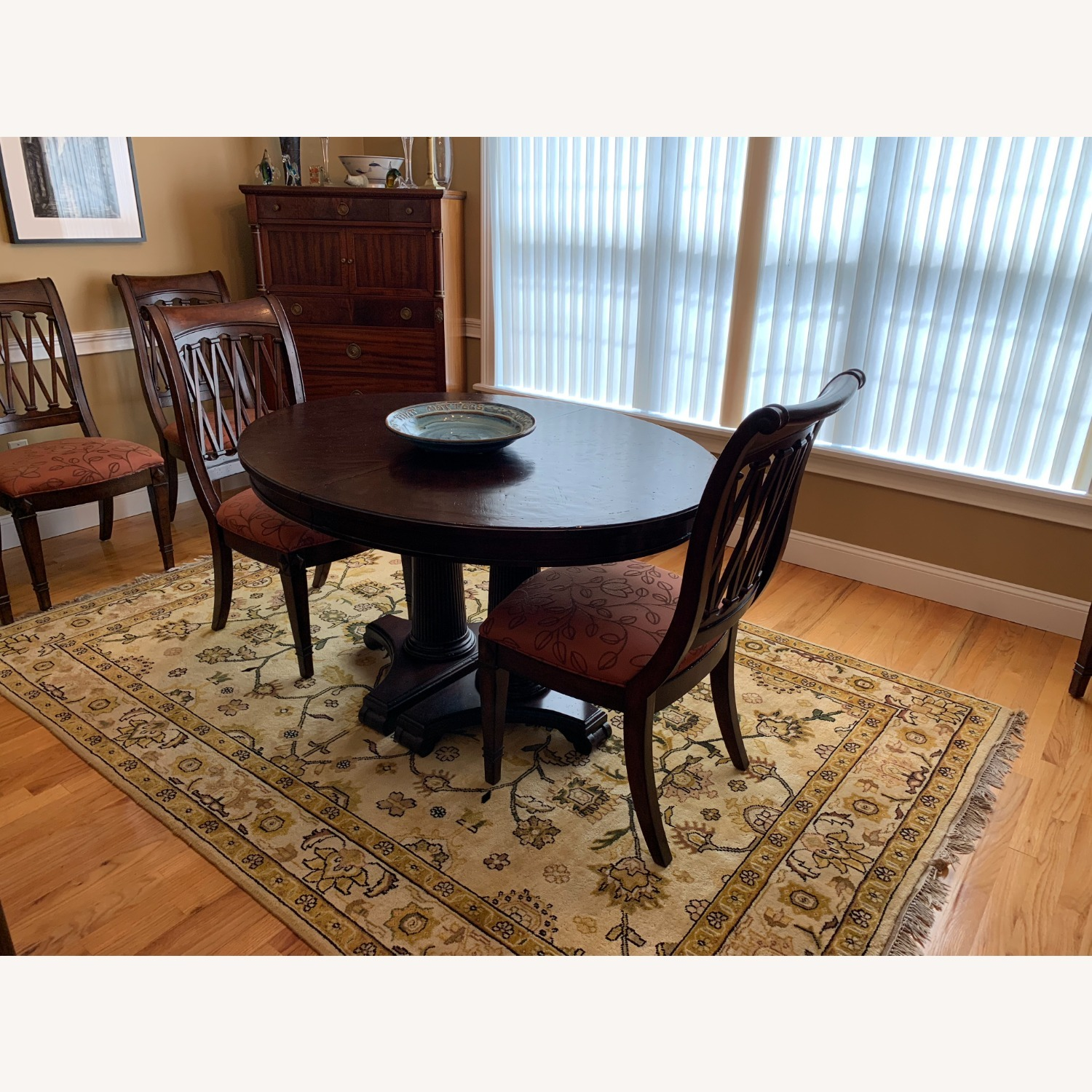 Drexel Solid Wood Dining Table with 6 chairs - image-1