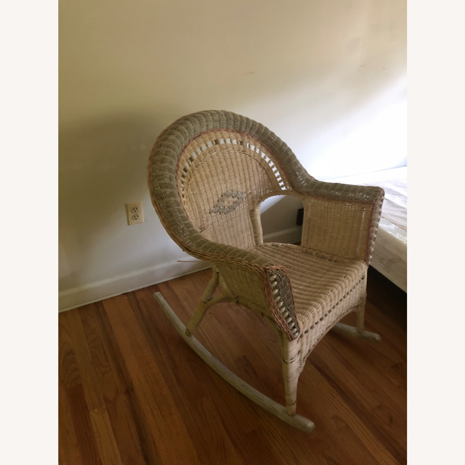 Wicker Ricking Chair - image-1
