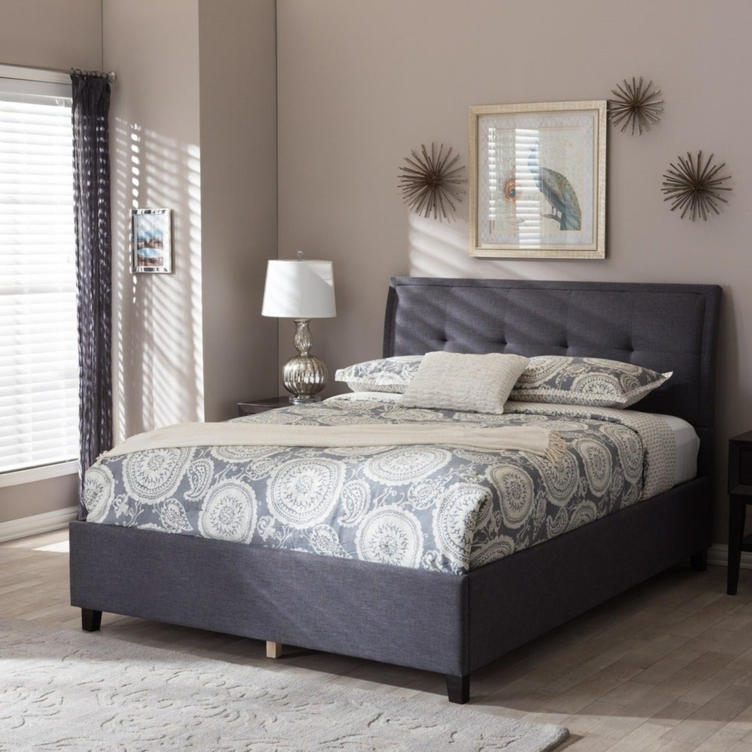 Queen Charcoal Tufted Storage Bed - image-3