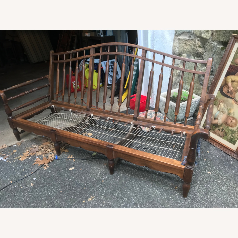 Unique Wooden Couch - image-1