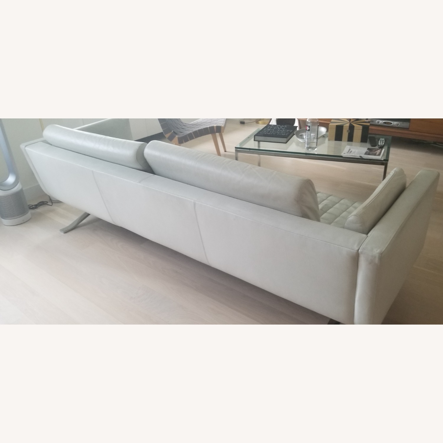 Palau White Leather Couch - image-2