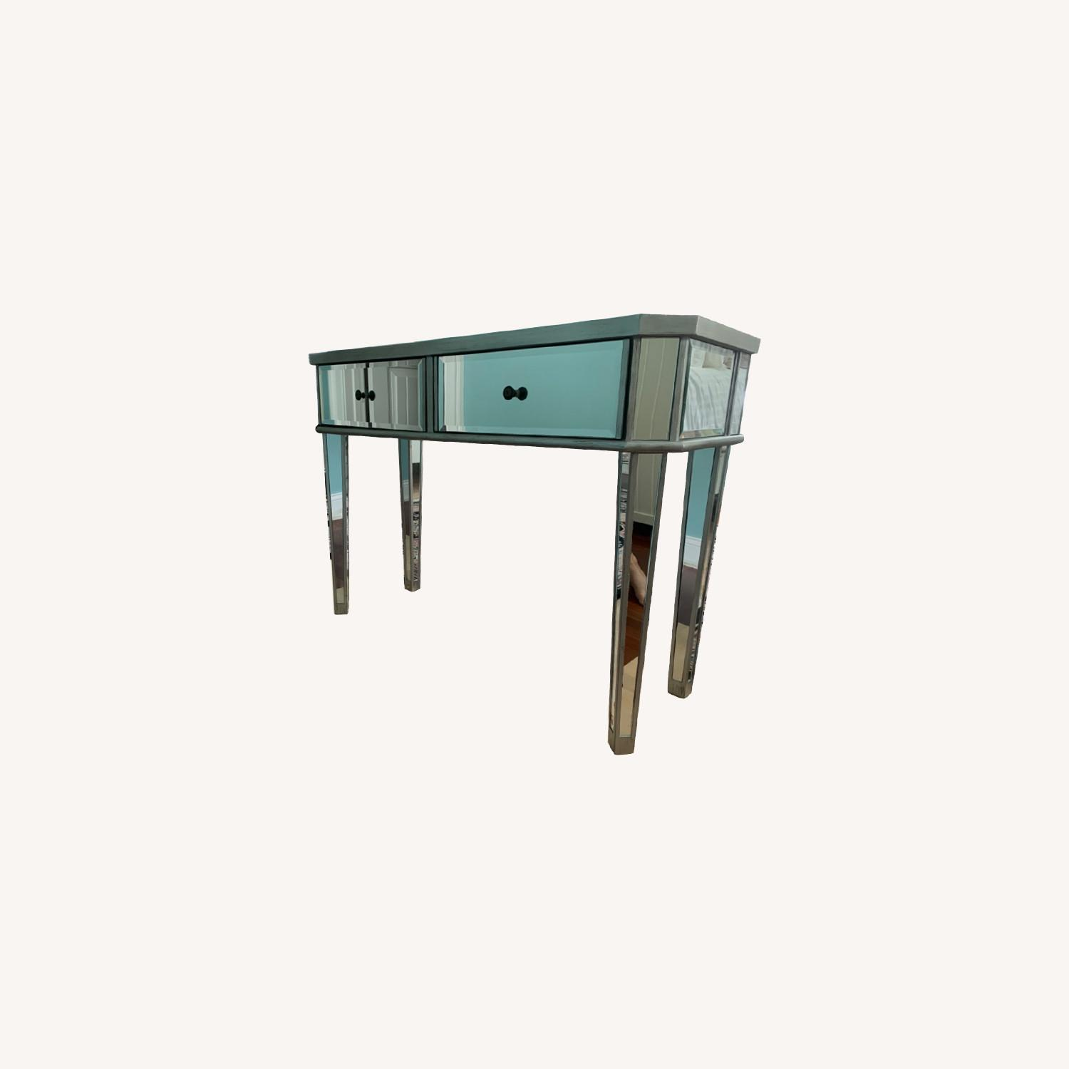 Powell Furniture Mirrored Table - image-0
