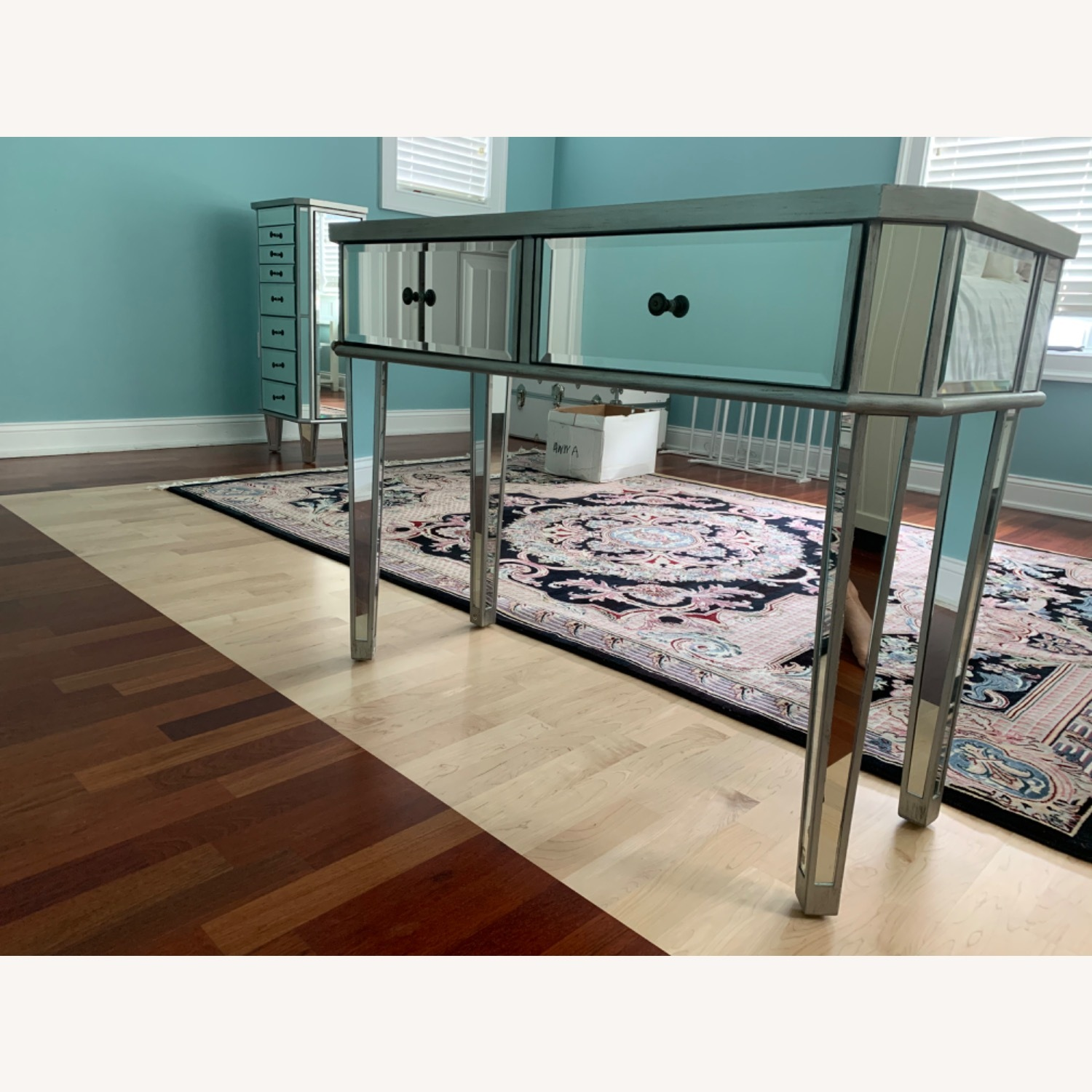 Powell Furniture Mirrored Table - image-1