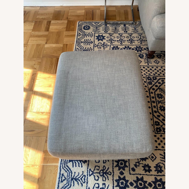 Pottery Barn Carlisle Upholstered Sofa + Ottoman - image-2