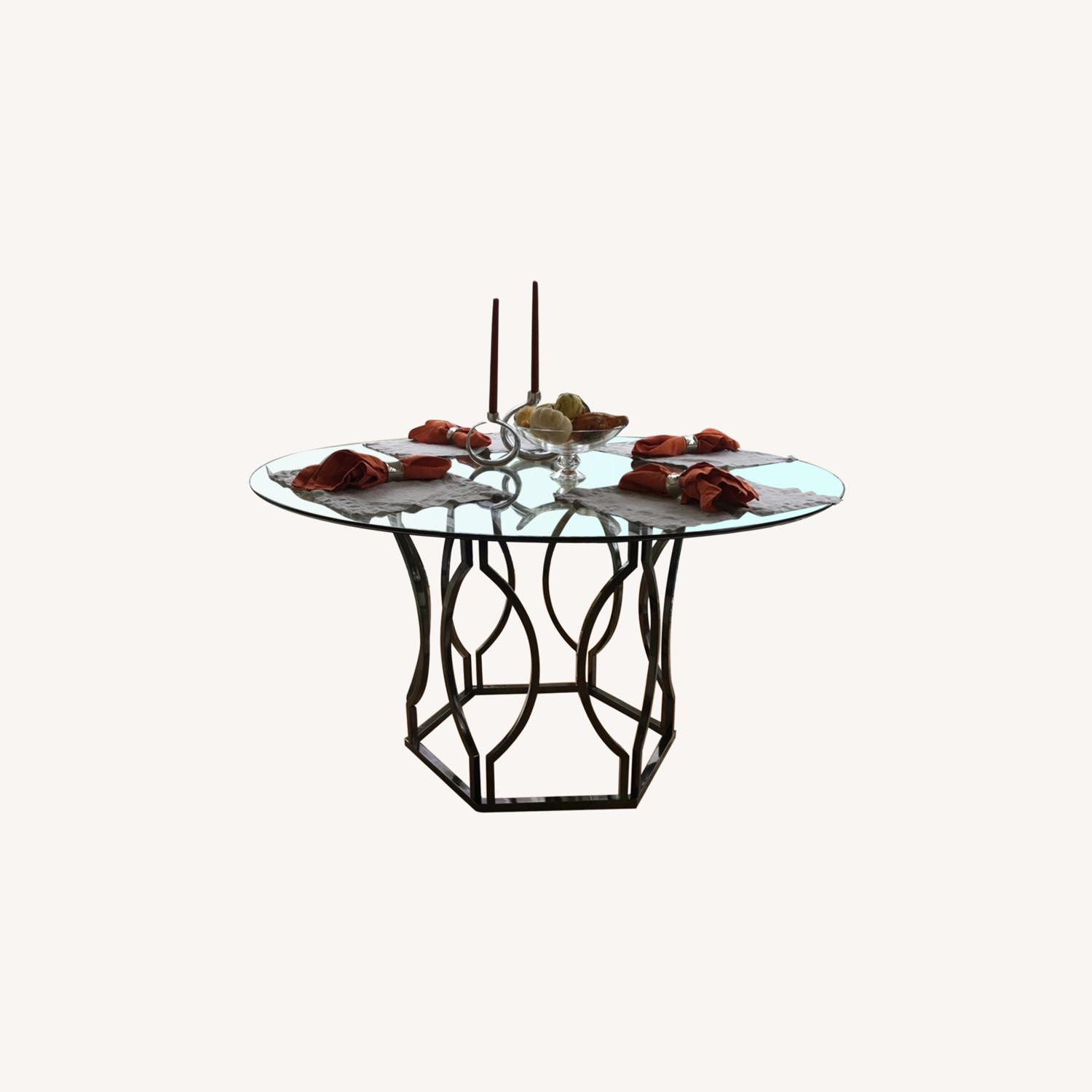 Round Glass Dining Table - image-0