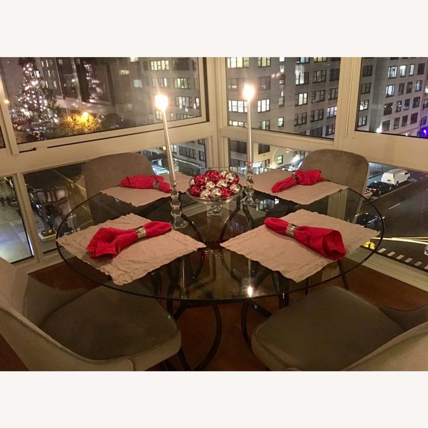 Round Glass Dining Table - image-3