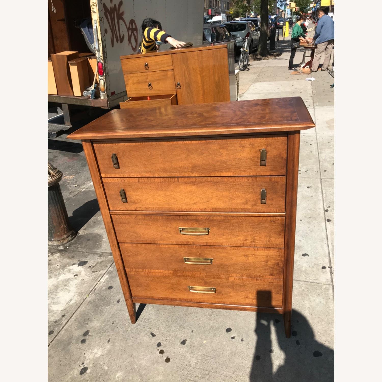 Stanley  Vintage Mid Century 1950s Walnut Dresser - image-4