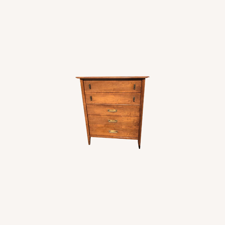 Stanley  Vintage Mid Century 1950s Walnut Dresser - image-0