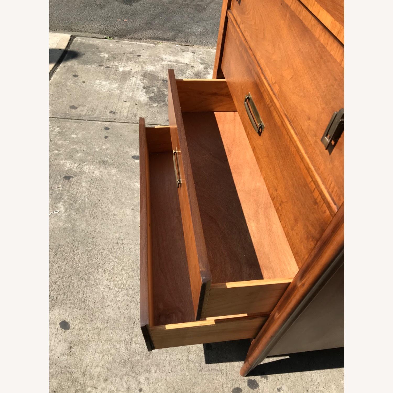 Stanley  Vintage Mid Century 1950s Walnut Dresser - image-17