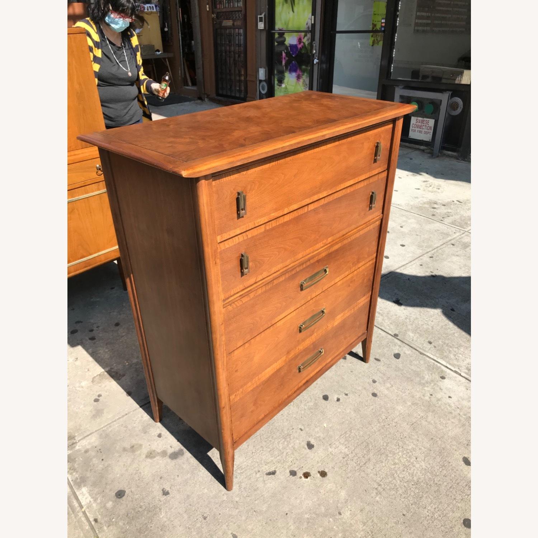 Stanley  Vintage Mid Century 1950s Walnut Dresser - image-5
