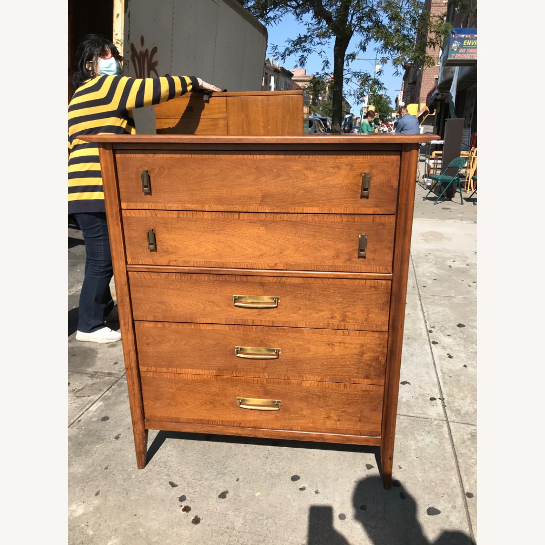 Stanley  Vintage Mid Century 1950s Walnut Dresser - image-2
