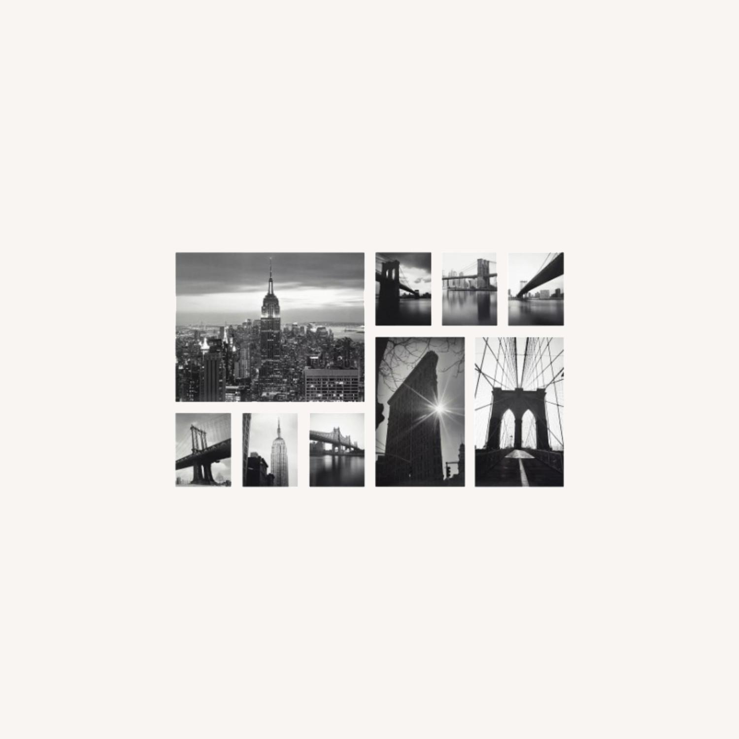 IKEA NYC Black & White Photo Gallery Wall Set of 9 - image-0