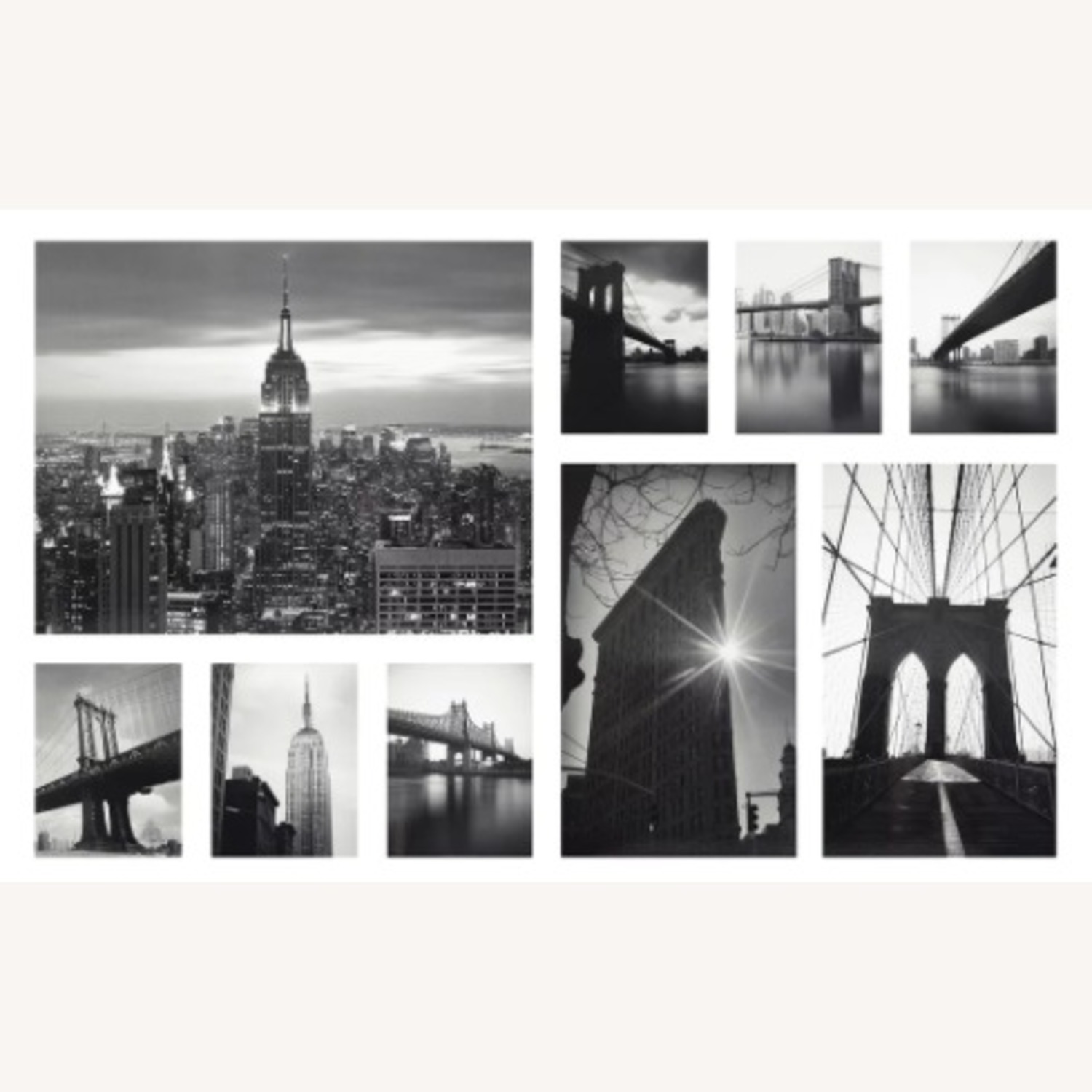 IKEA NYC Black & White Photo Gallery Wall Set of 9 - image-1