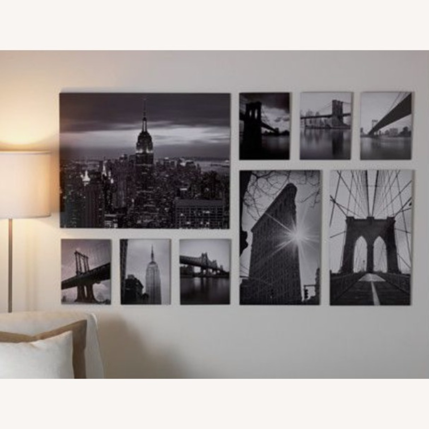 IKEA NYC Black & White Photo Gallery Wall Set of 9 - image-2