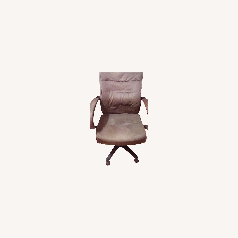 Comfortable Velour Desk Chair - image-0