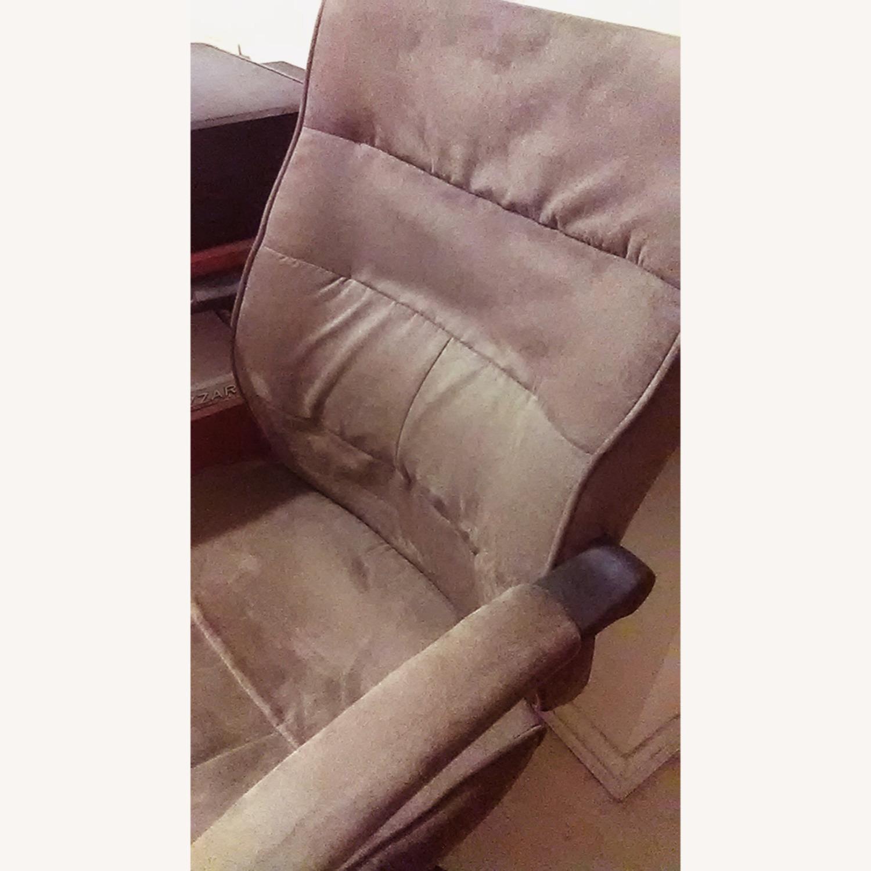 Comfortable Velour Desk Chair - image-3