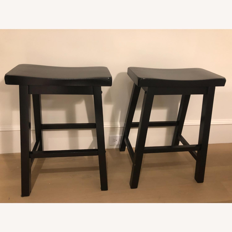 Black Wood Stools - image-0
