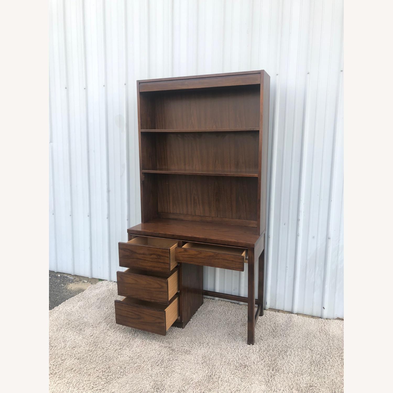 Mid Century Writing Desk with Shelving Unit - image-4