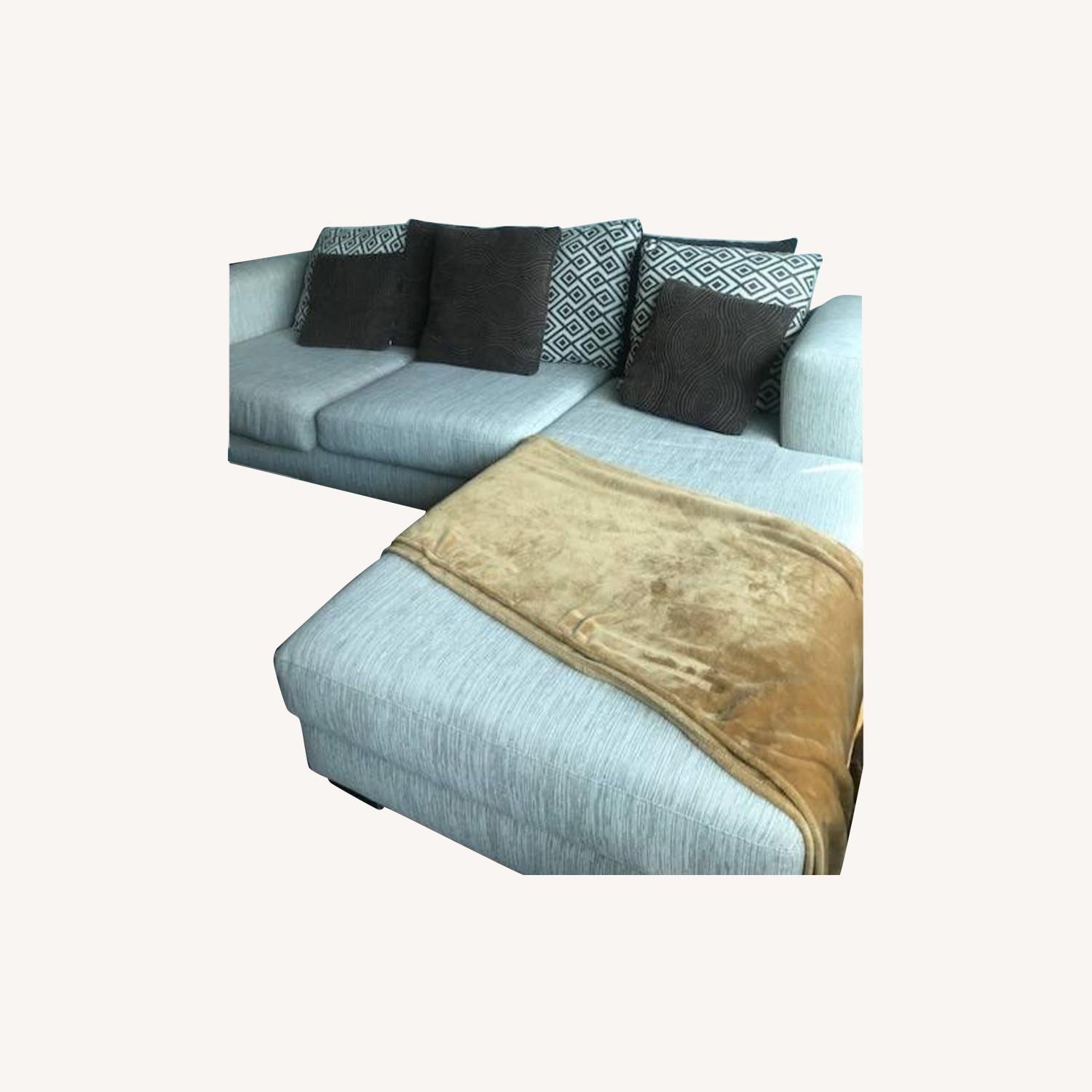 Raymour & Flanigan Urbanity 2 Piece Sectional with Chaise - image-4