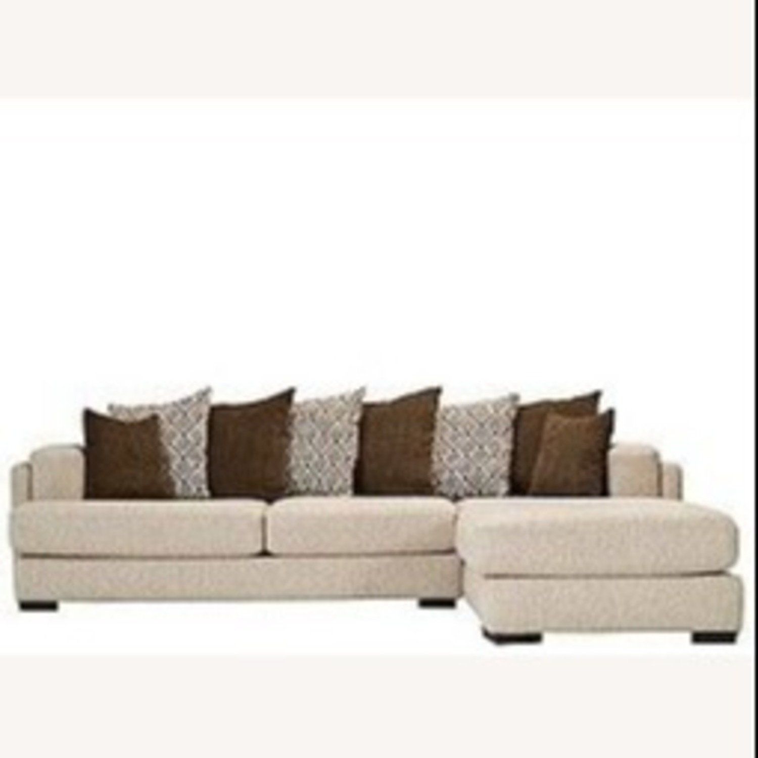 Raymour & Flanigan Urbanity 2 Piece Sectional with Chaise - image-0