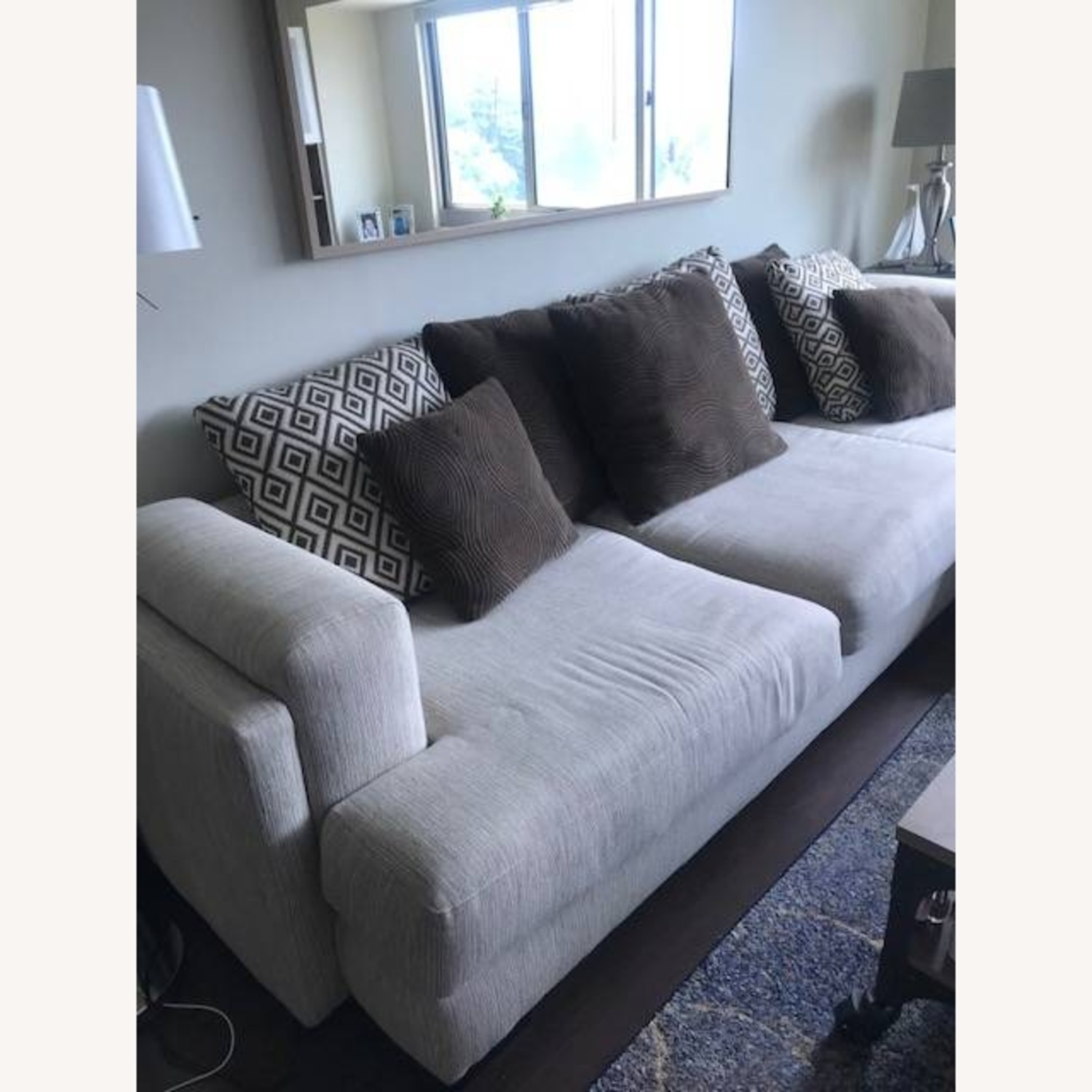 Raymour & Flanigan Urbanity 2 Piece Sectional with Chaise - image-2