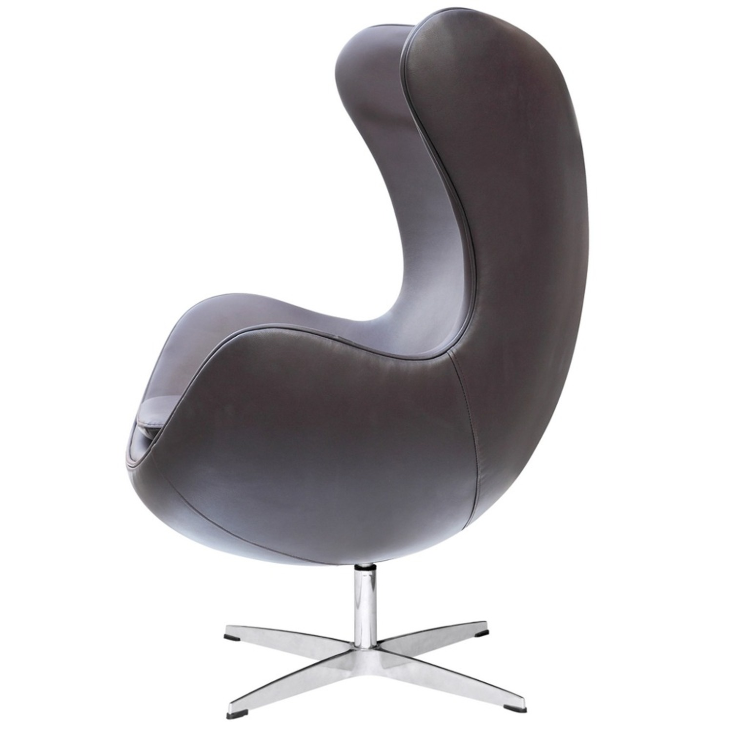 Inner Chair In Brown Leather W/ Fiberglass Frame - image-3