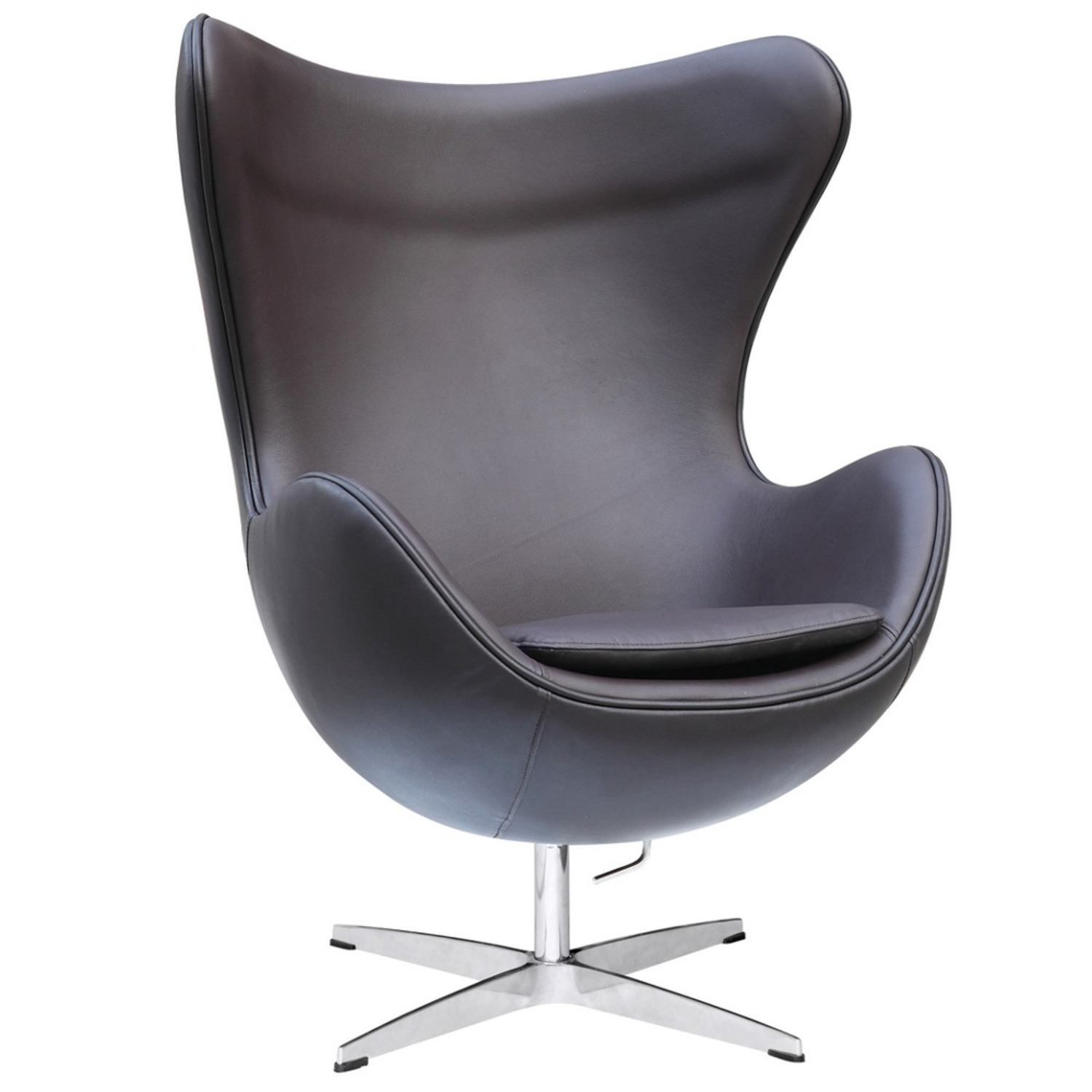 Inner Chair In Brown Leather W/ Fiberglass Frame - image-0
