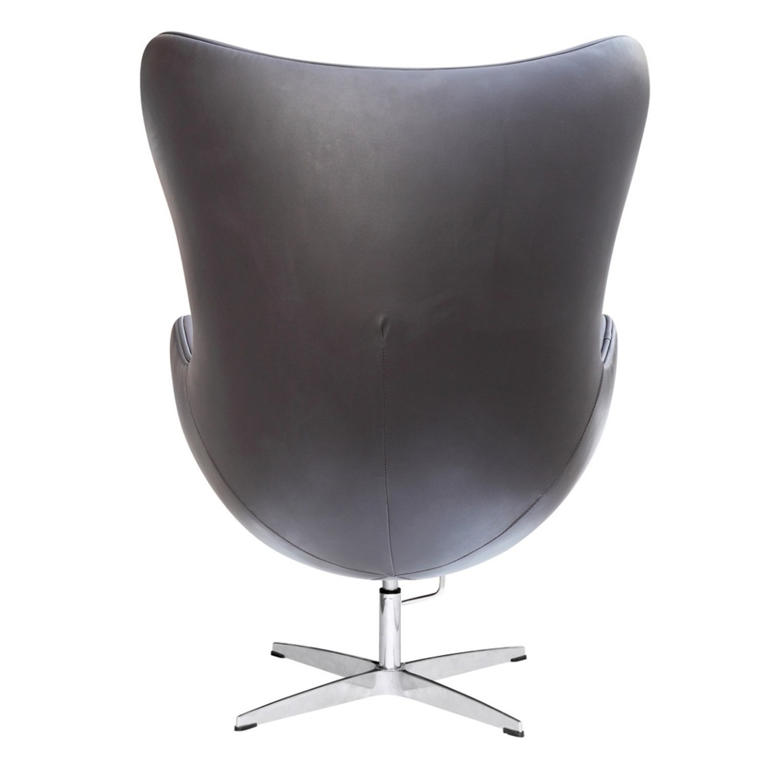 Inner Chair In Brown Leather W/ Fiberglass Frame - image-2
