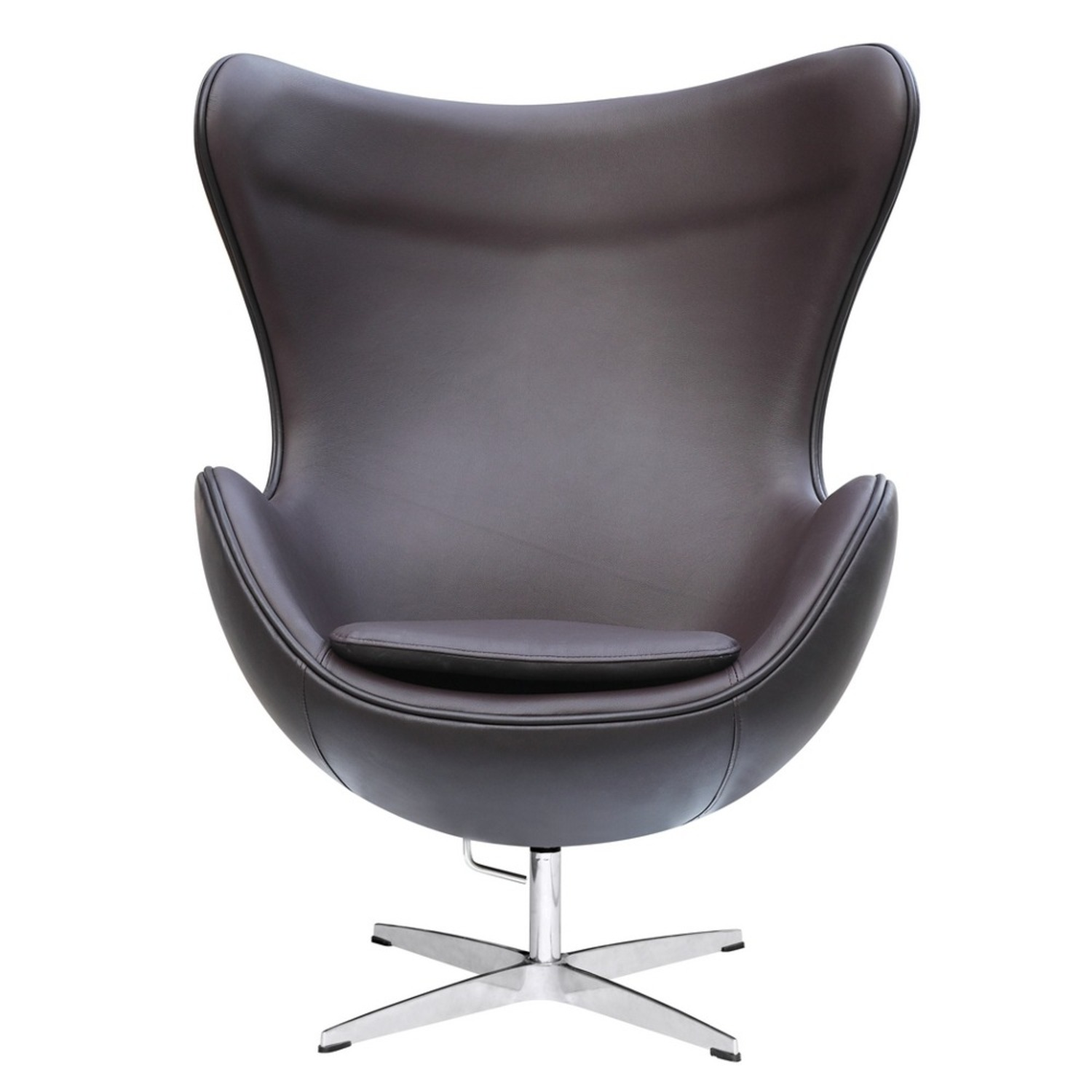 Inner Chair In Brown Leather W/ Fiberglass Frame - image-5