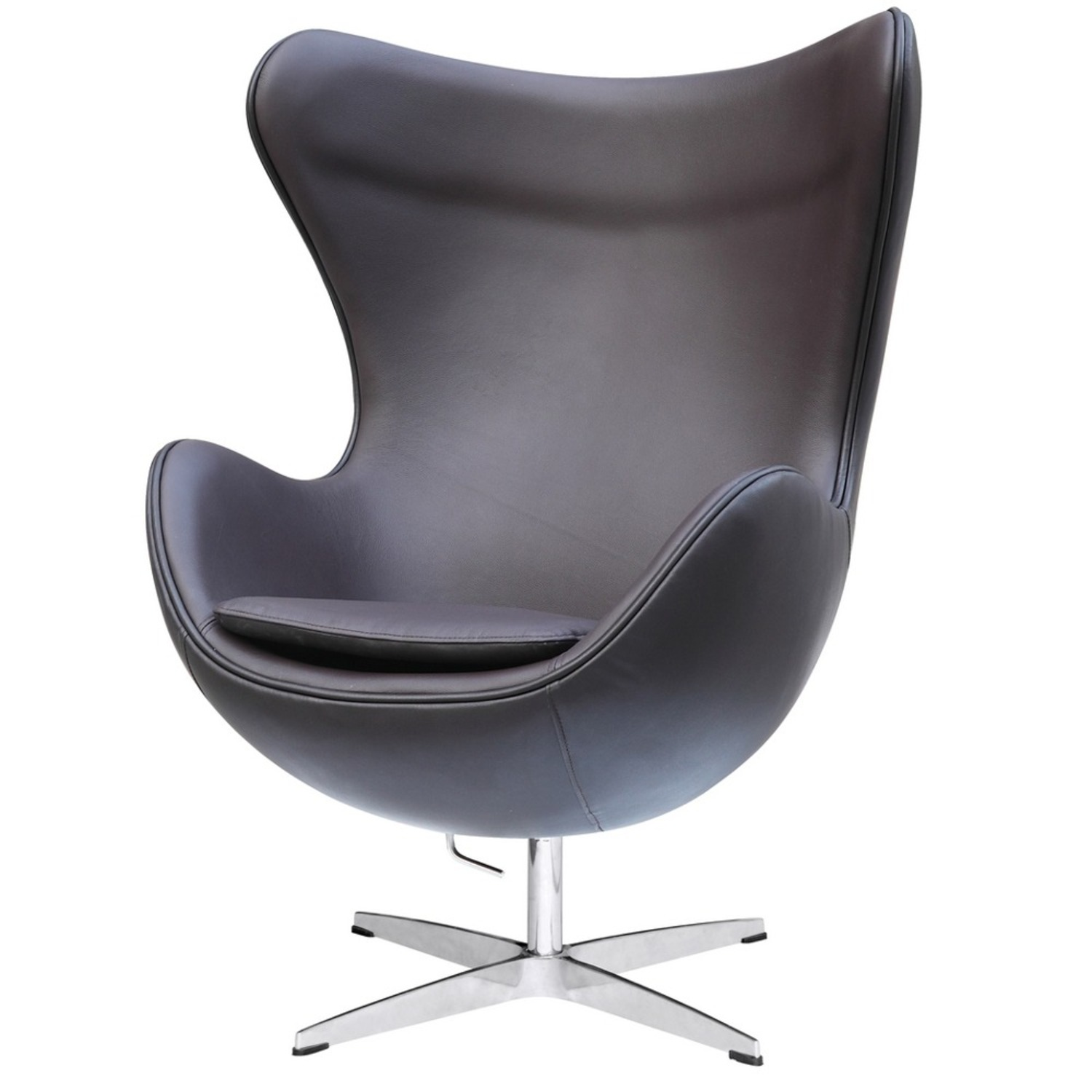 Inner Chair In Brown Leather W/ Fiberglass Frame - image-4
