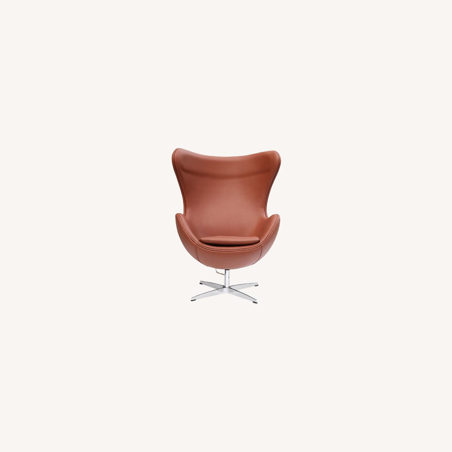 Inner Chair In Light Brown Leather - image-7