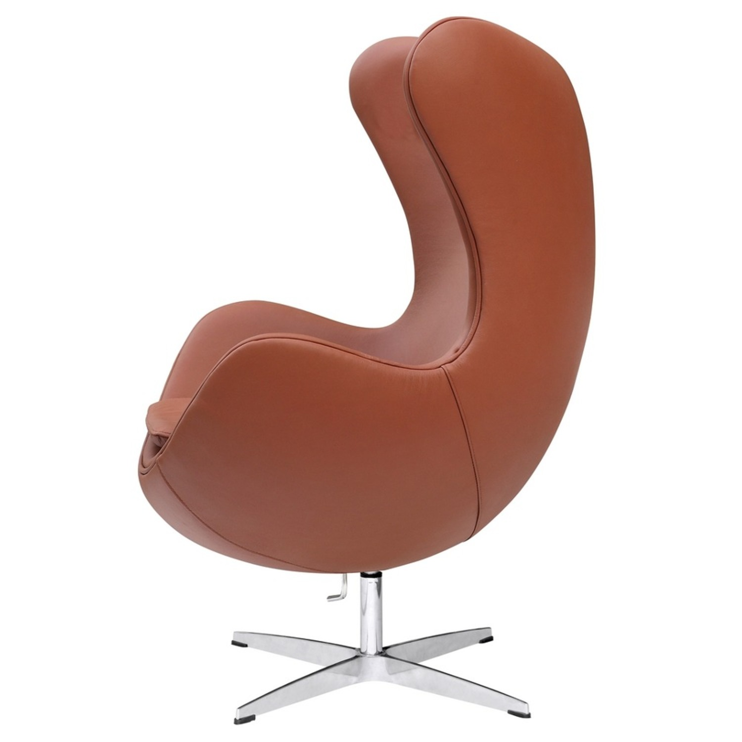 Inner Chair In Light Brown Leather - image-3