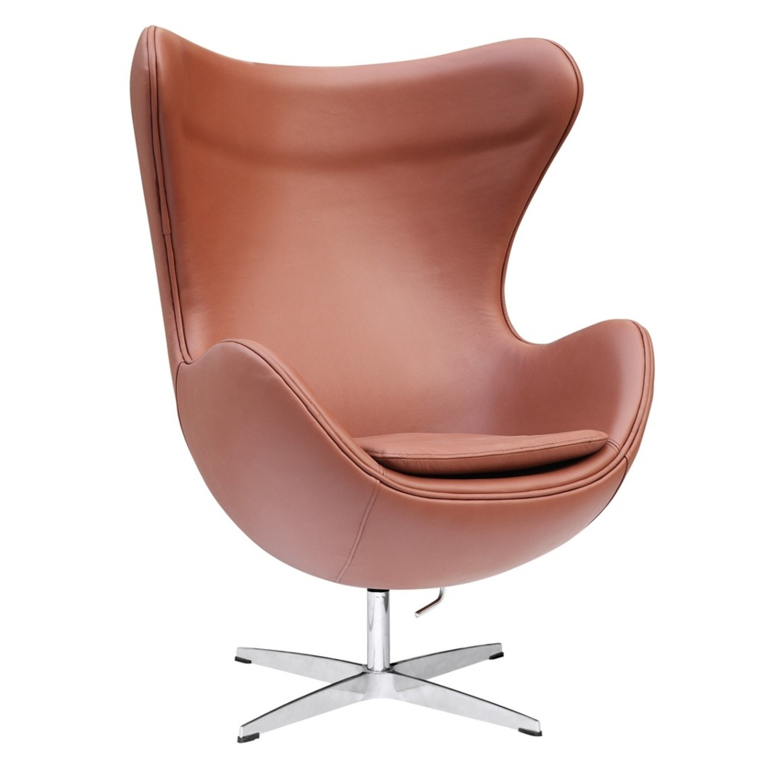 Inner Chair In Light Brown Leather - image-0