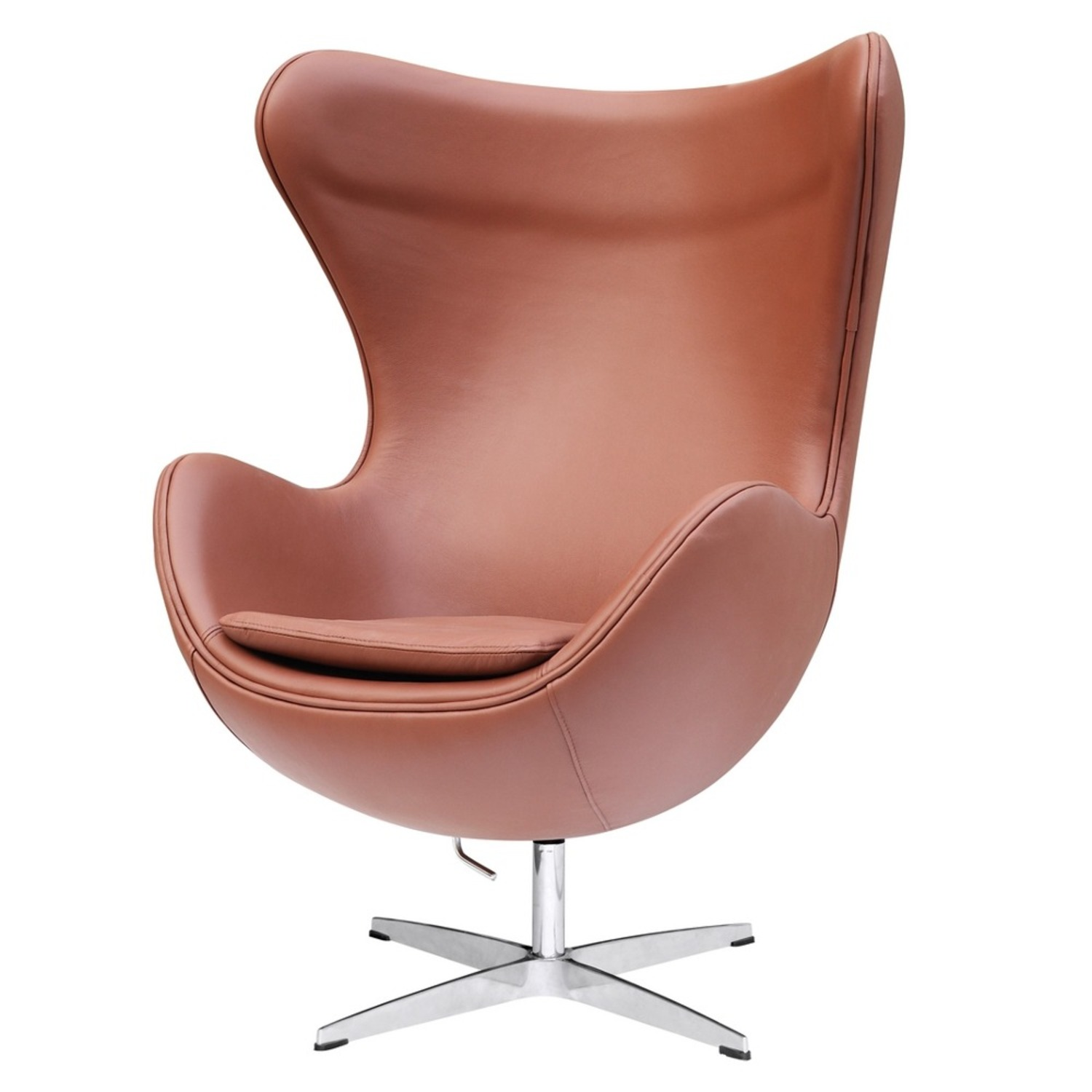 Inner Chair In Light Brown Leather - image-4