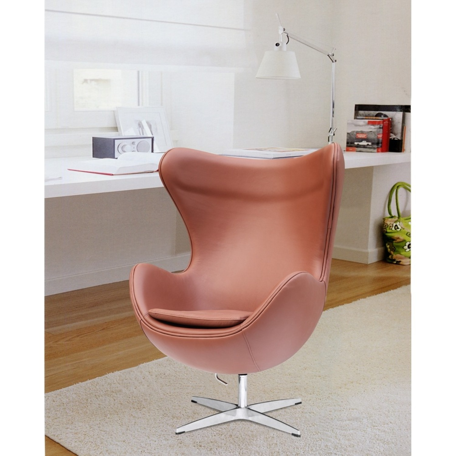 Inner Chair In Light Brown Leather - image-6