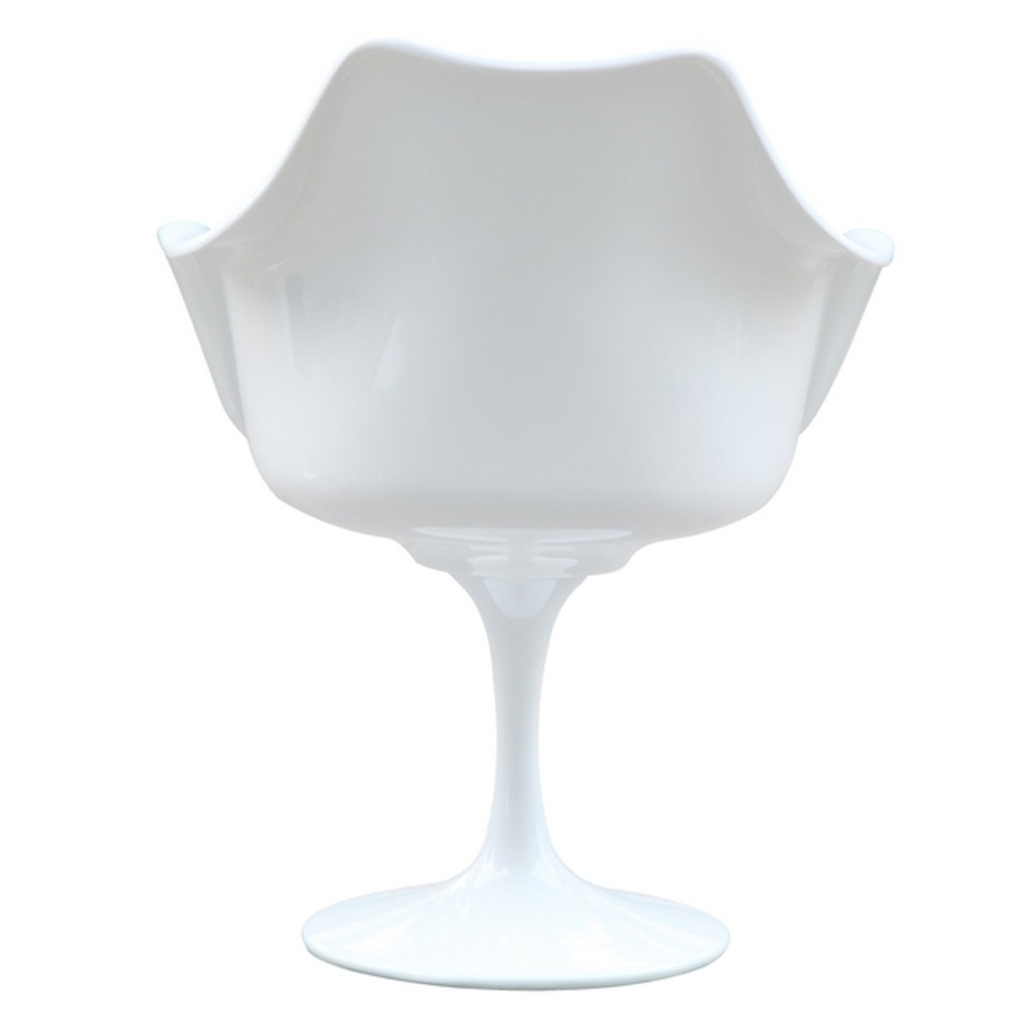 Flower Armchair In White Frame & Black Suede - image-2