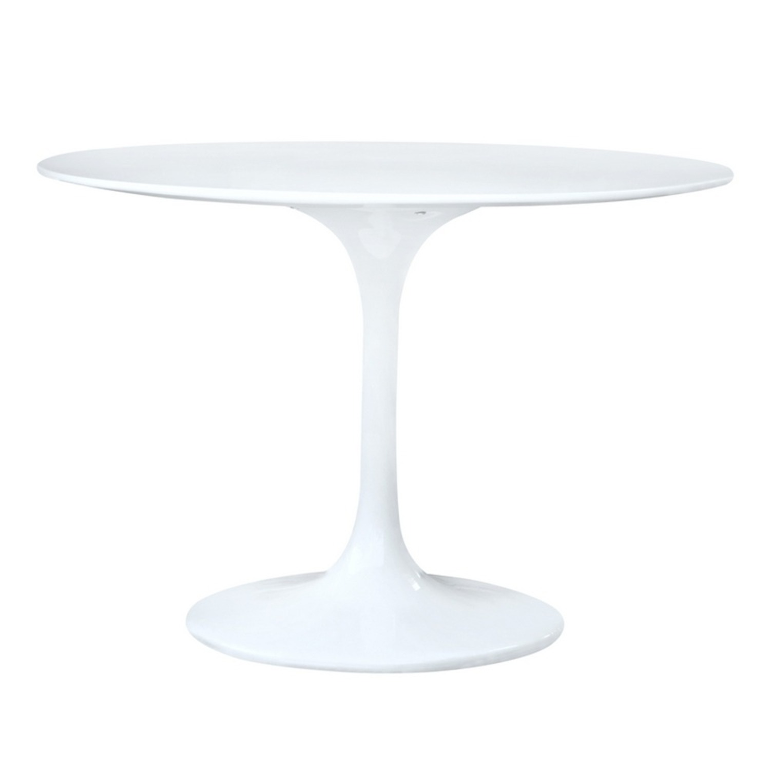 Tulip Style Dining Table In White Fiberglass - image-2