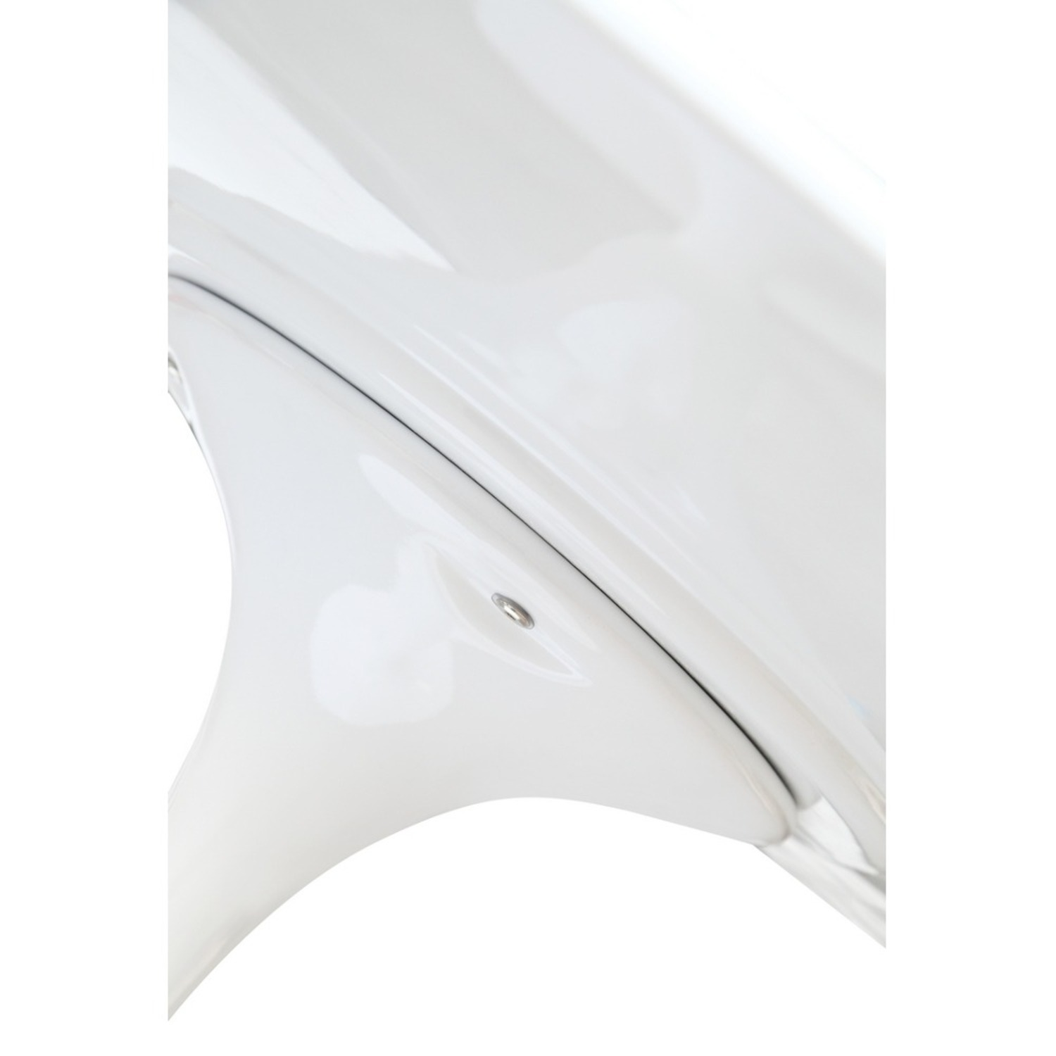 48-Inch Dining Table Molded In White Fiberglass - image-3