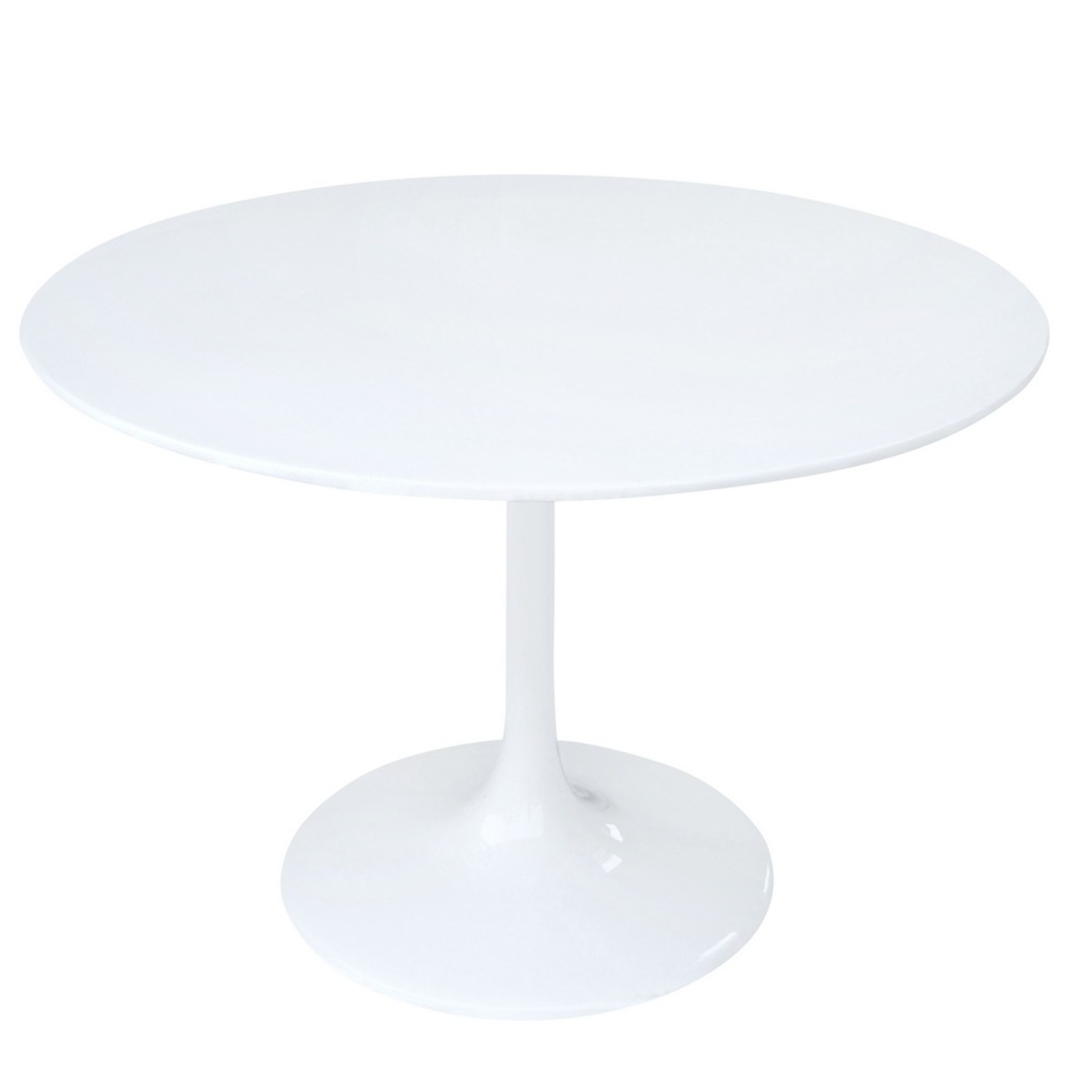 48-Inch Dining Table Molded In White Fiberglass - image-1