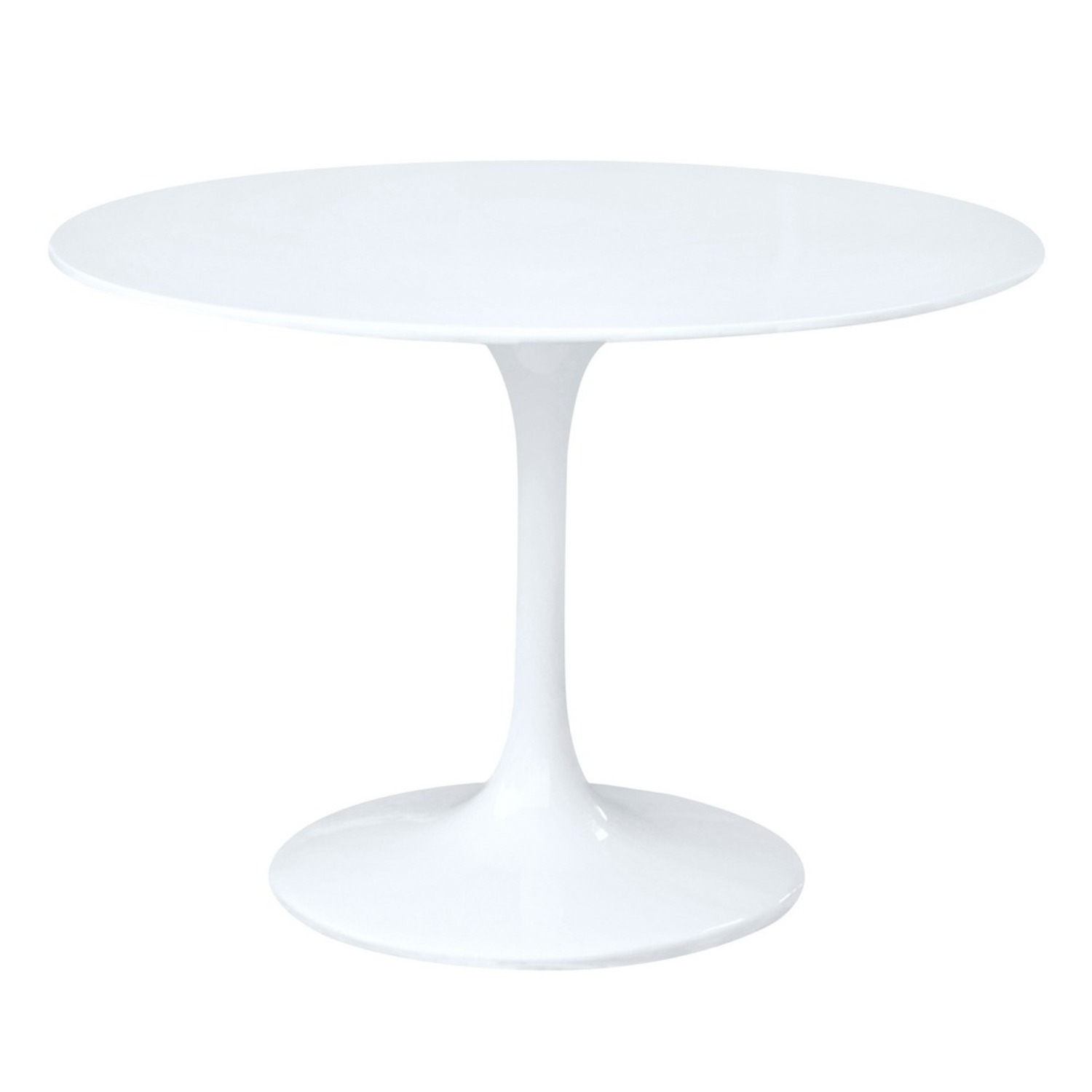 48-Inch Dining Table Molded In White Fiberglass - image-0