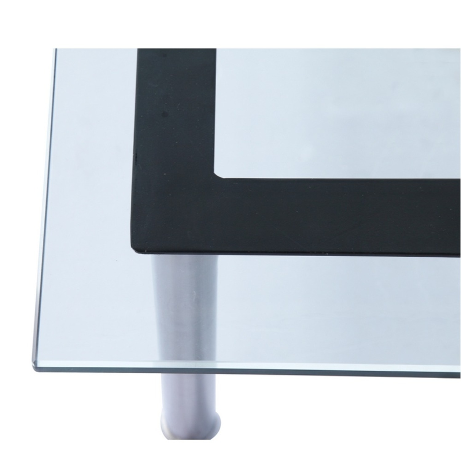 Coffee Table In Clear Chrome Finish W/ Glass Top - image-5