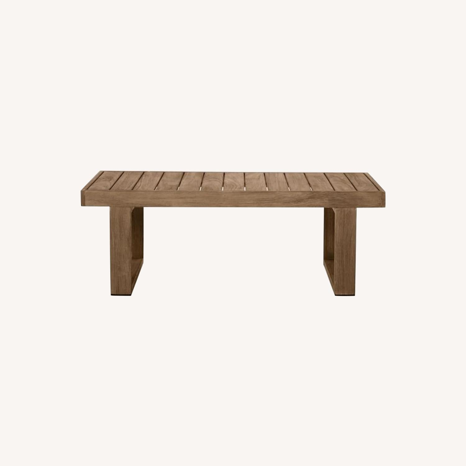 West Elm Portside Outdoor Coffee Table , Driftwood - image-0
