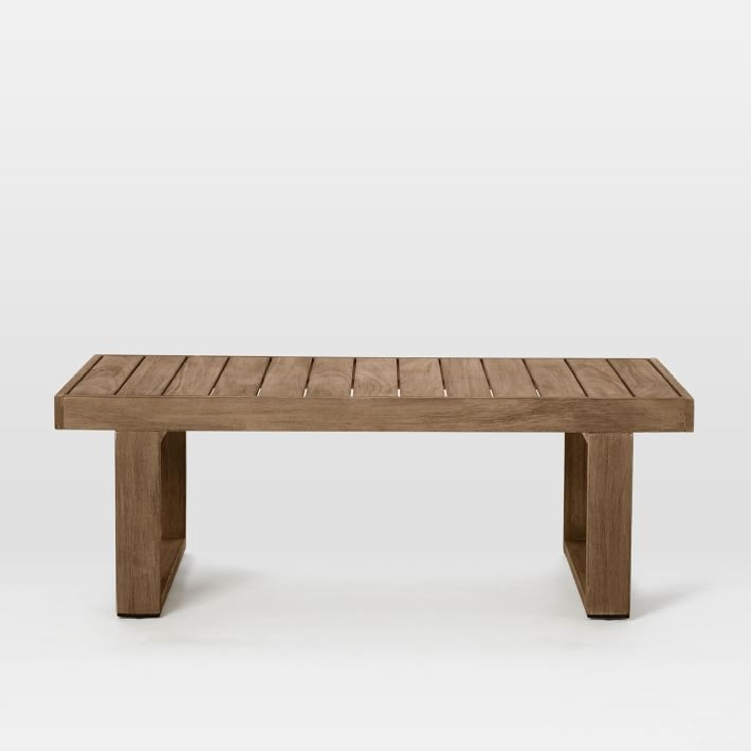 West Elm Portside Outdoor Coffee Table , Driftwood - image-2